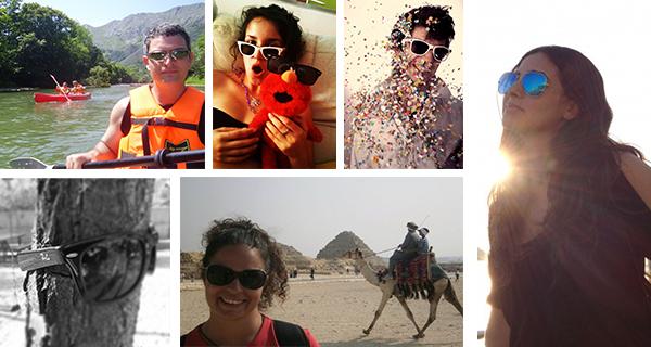 collage participantes concurso Las gafas de sol también viajan