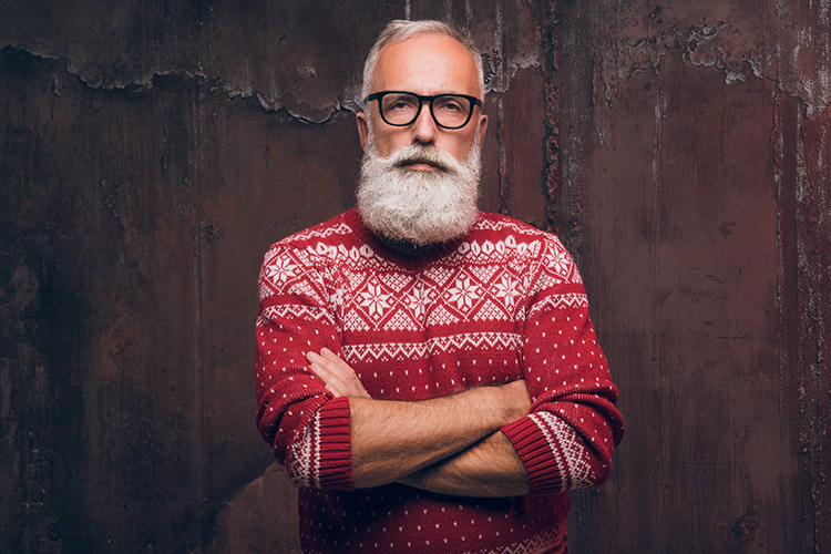 Papá Noel com gafas